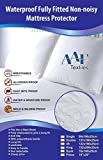 Aaf Textiles Single Waterproof Fitted Sheet Mattress Protector Non Noisy Breathable  Anti Allergy Anti Dust Mite Anti Sneezing Anti Itching Wipe off with Wet cloth (Waterproof Fitted Sheet, Single)