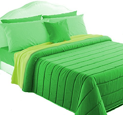 Trapunta invernale double face singolo il mitico di irge verde/lime made in italy
