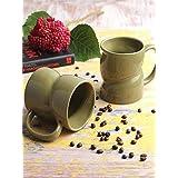 VarEesha Ceramic Mug Set, 2-Pieces, Green