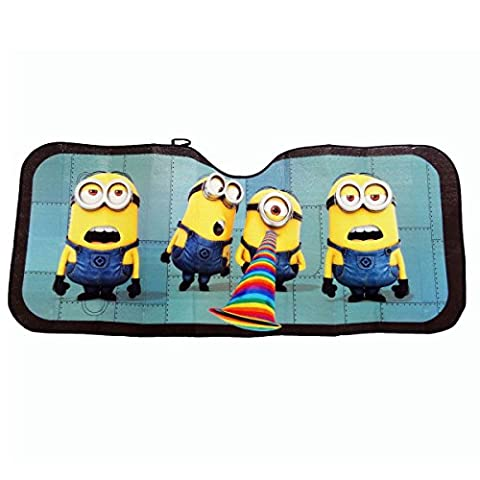 Universal Fit Minions Despicable Me Minions Minion Car Truck Folding Sun Shade Standard for for Car Truck SUV Front Windshield Window Reversible Sun Shade Universal 24