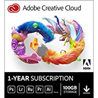 Adobe Creative Cloud | All Apps with 100GB Cloud Storage | 12-month Subscription PC/Mac (Email Delivery in 2 hours - No CD)