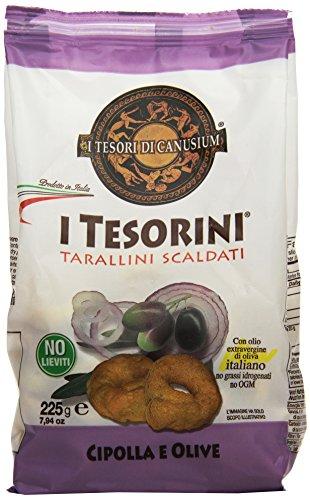 I Tesorini Tarallini Cipolla/Olive 6 pezzi da 225 g