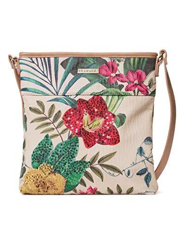 Desigual Bag Clio Kaua Women - Borse a tracolla Donna, Bianco (Crudo), 4x28.5x26.2 cm (B x H T)