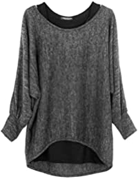 Emma & Giovanni - Damen Oversize Oberteile Tshirt/Pullover (2 Stück) / Made In Italy