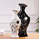 Lotefong Home Furnishing Jewelry Ornaments Pottery Porcelain Vase Room Decor Decoration Black Suit