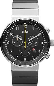 Braun BN0095BKSLBKG - Reloj analógico de cuarzo unisex, correa de caucho
