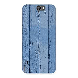 Blue Wood Wall Print Back Case Cover for HTC One A9