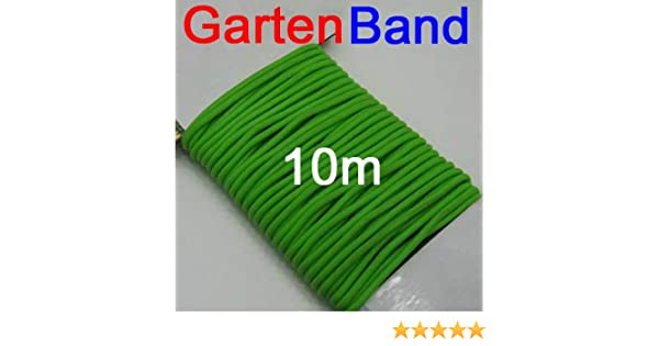 Mehrzweck Gartenband gummiert 10m Länge grün Garten Haushalt Draht Band Schnur
