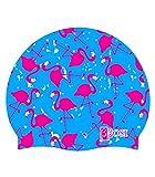 BBOSI Badekappe Silicone flamingo Erwachsene und Kinder Unisex