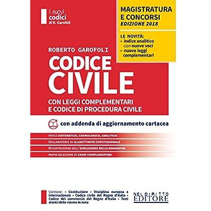 Codice Civile Con Leggi Complementari E Codice Di Procedura Civile. Con Contenuto Digitale Per Download E Accesso On Line