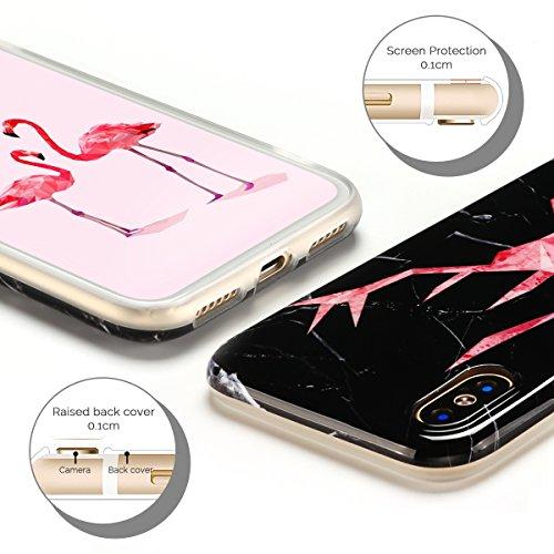 Cover iPhone X Case iPhone X Custodia Spiritsun Moda Soft TPU Case Christmas Kawaii Cover High Quality Scintillante Luminoso Case Elegante Souple Flessibile Liscio Copertura Perfetta Protezione Shell  Cervo testa 1