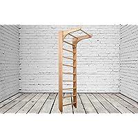 Madera maciza - haya! Construcción robusta! Barras de pared de madera para interiores Bambino-01-220 Wooden Escalera sueca