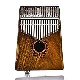 17 touches EQ Kalimba solide Acacia Thumb Piano Link haut-parleur Pick-up électrique avec sac de musique cadeau musical pour les amateurs de musique