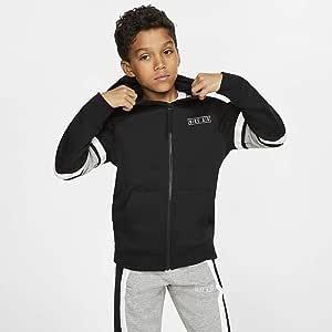 Nike B NK AIR Hoodie FZ Sweat Shirt Garçon, BlackDK Grey