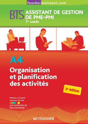 A4 Organisation et planification des activités BTS