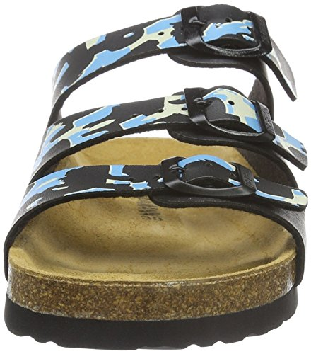 Dr. Brinkmann Damen 700944 Pantoletten Mehrfarbig (schwarz/blau)