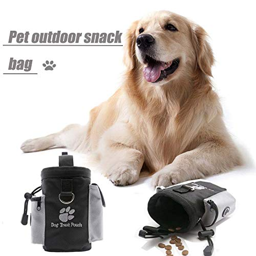 Huaaag PET Out Snack Bag, PET Sacchetto Di Addestramento Dog Bag Cane, PET Out Snack Container Sport In Esecuzione Coulisse Tasca In Vita