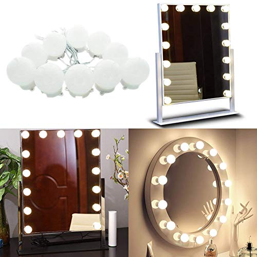 ZLJWRQY ZL Hollywood Style Vanity Mirror Lights Kit für Makeup Dressing Table Vanity Set Mirrors 10.33ft LED Mirror Headlight, Mirror Not Included - Style Vanity Set