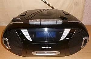 Medion mD84038 boombox lecteur cD, cD, mP3, cassette, dD/card slot mMC, uSB