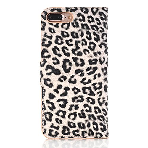 iPhone Case Cover Leopard Punkt Muster Wallet Stand Case Retro Flip Wallet Stand Case für Apple IPhone 7 Plus ( Color : 1 , Size : IPhone7 Plus ) 2