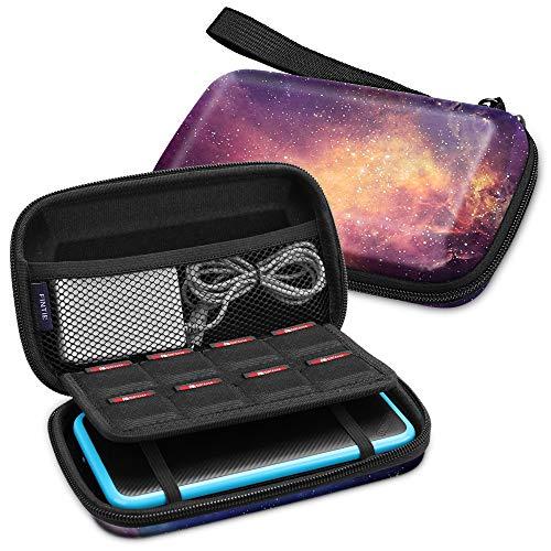 Fintie Tasche für Nintendo 2DS XL / 3DS XL - Tragetasche Aufbewahrungstasche Transporttasche mit Spielkartenhaltern und Haltegurt für die Nintendo 2DS XL / 3DS XL / 3DS / 3DS LL Konsole, Die Galaxie