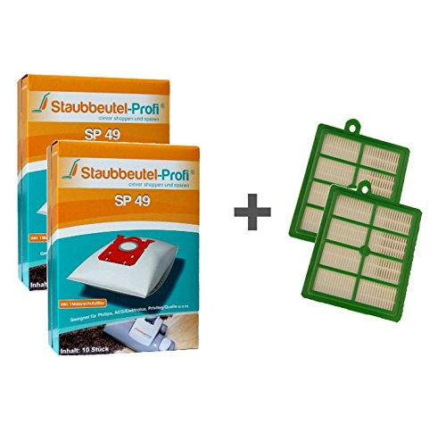 20 Staubbeutel + HEPA-Filter geeignet für Philips FC 9100-9199 Serie - Performer von Staubbeutel-Profi® -