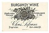 100 Flaschenetikett Etiketten für Homemade Wein making- schälen und Stick Large Größe 9 x 12 cm