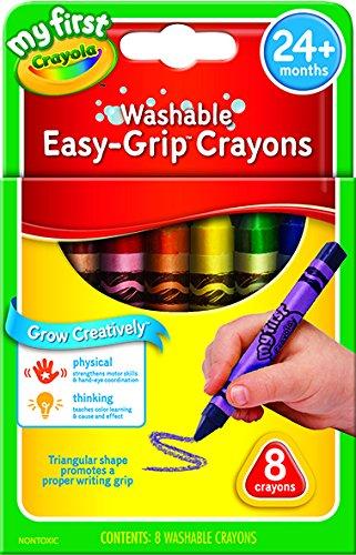 Crayola My First dreieckige Wachsmalstifte, Mehrfarbig, 1.27 x 10.16 x 15.24 cm