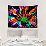 arazzo Home Art Decor Tapestry Wall Hanging Unique Large Beach Towels Dorm Blanket Throw Bedspread for Living Room Bedroom Trippy Multicolor Marijuana Pot Leaf Weed