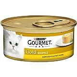 Purina Gourmet Gold Soufflé Katzennassfutter, 12er Pack (12 x 85g Dose)