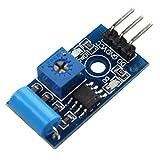 Haljia SW-420normalement fermé type de vibration Sensor module d'alarme Capteur de vibrations module de commutation module de détecteur de mouvement pour Arduino Raspberry Pi...