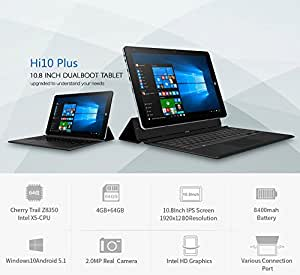 chuwi hi10 plus 10 8 pouces windows 10 android 5 1 tablette pc intel cherry trail x5 z8350. Black Bedroom Furniture Sets. Home Design Ideas
