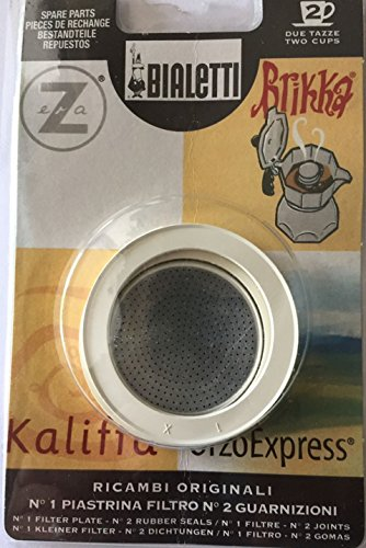 Bialetti: Replacement for OrzoExpress 2 Cups (1 filter plate + 2 Rubber Seals) / Compatible with...