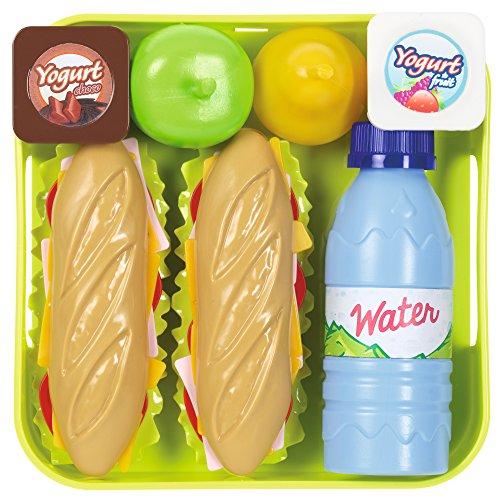Jouets Ecoiffier - 955 - Plateau de Sandwich avec accessoires pour enfants - Imitations d'aliments - Dès 36 mois - Fabriqué en France