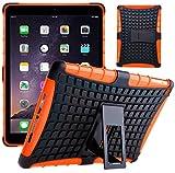 G-Shield Hülle für iPad Air 2 Stoßfest Schutzhülle mit Ständer - Orange