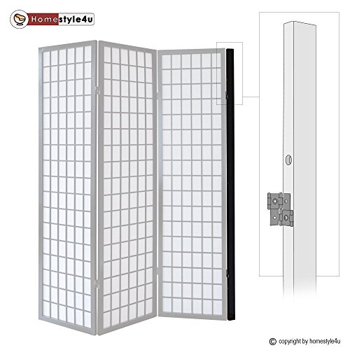 Homestyle4u Wandhalter Raumteiler Wandhalterung Paravent Wand Befestigung Schwarz