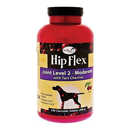 Naturvet Overby Bauernhof Hip Flex Ebene 2 Die Beweglichkeit Der Gelenke Hund Ergänzung 120Ct Tablette (Ergänzung Joint Hund)