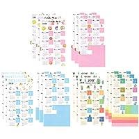 Funcoo 2019 - Juego de 9 pegatinas de calendario para planificador de diario, divisores de índice mensual, etiquetas autoadhesivas, color Style-1