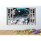 STARWARS Window Effect Vinyl Wall Art Sticker *GIANT SIZE* 100 x 60 cm - pw76