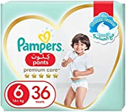 Pampers Premium Care Pants, Size 6, Extra Large, 16+ kg, Jumbo Pack, 36 Diapers