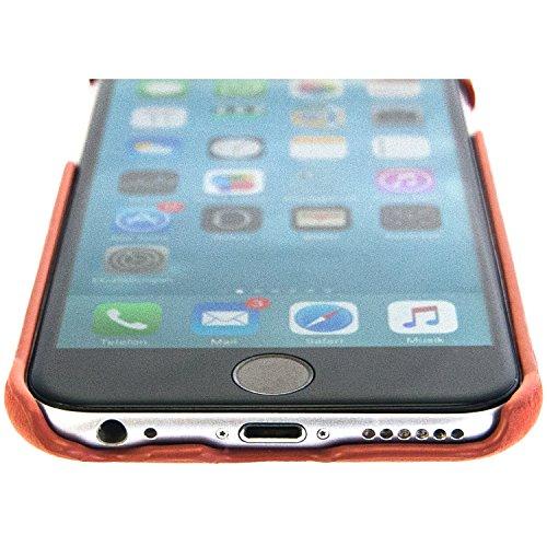 BULLAZO iPhone Leder Hülle Case Schutz Cover Backcover MENOR für original Apple iPhone 6S mit Kartenfach ultra dünn schmal in cognac braun. Hochwertige Echleder Schutzhülle im Business Design. Cognac Braun