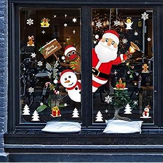 GBQ_Future Feliz Navidad Papá Noel Muñeco de Nieve Alce de la Puerta Decoración de la Ventana Extraíble PVC Pegatinas Electrostáticas para Fiesta.