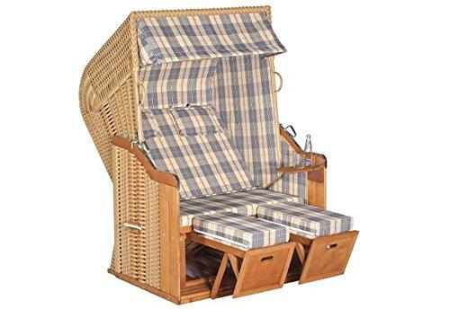 Sunny Smart Strandkorb Rustikal 250 Plus Stoff-Nr. 1205, Halbliegemodell Außenmaß (B x T): 125 x 90 cm Gesamthöhe: 160 cm Geflecht: Kunststoffgeflecht Ausführung: Halbliegemodell Stoff: Nr. 1205, beige