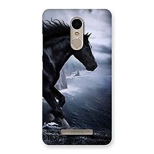 Delighted Premier Black Horse Back Case Cover for Xiaomi Redmi Note 3