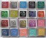 Kleine Stempelkissen VERSACOLOR günstigen Angebot, 20 Stück, verschiedene Farben