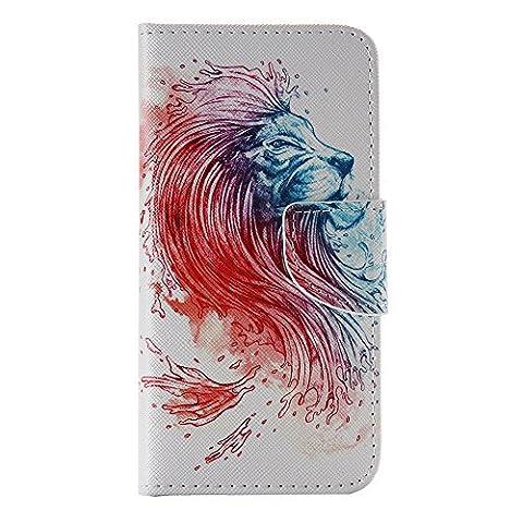 Nancen Samsung Galaxy S6 / G9200 (5,1 Zoll) Handy Lederhülle, Flip Case Wallet Cover with Stand Function, Folio Bookstyle Handytasche Soft Silikon Bunte Muster Tasche PU Leder Slim Shell