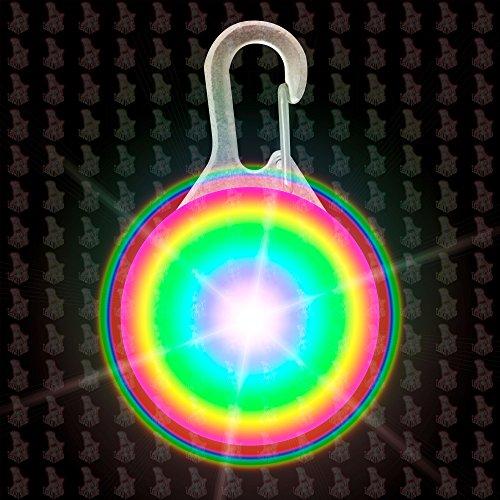 hundeinfo24.de Hunde Leuchtanhänger Leuchthalsband Led Hundehalsband LH6 Blinkie von Leuchthund® Led Anhänger (disko 1 ( Farbwechselspiel ))