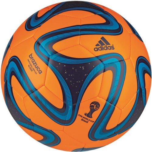 adidas Fußball Brazuca Glider, Solar Zest/Night Blue/Solar Blue, 5, G73628 -