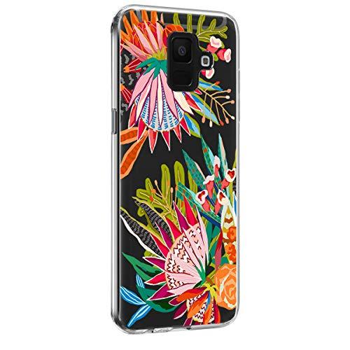 14chvily Kompatibel mit Galaxy A6 2018 Hülle Silikon Schutzhülle Handyhülle Ultra dünn TPU Cover Rückschale Blume Kaktus Flüssigkristall Schutz Shockproof Handytasche für Galaxy A6 2018 (11) -