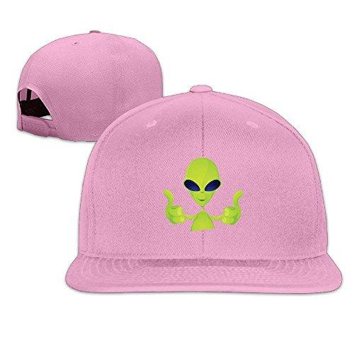 Cool Green Alien Thumb Classic Flat Baseball Caps Snapback Hat ()